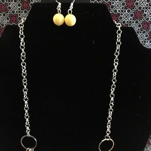 Beachside Babe Yellow Necklace & Earrings Set